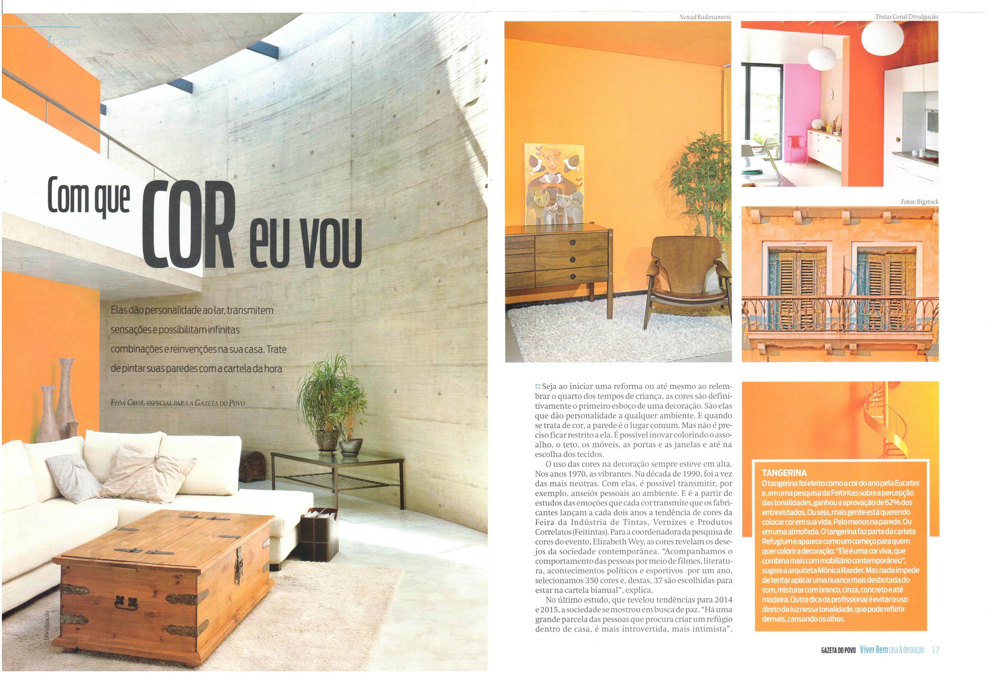 Sobre cores, nosso projeto é destaque na Viver Bem da Gazeta do Povo