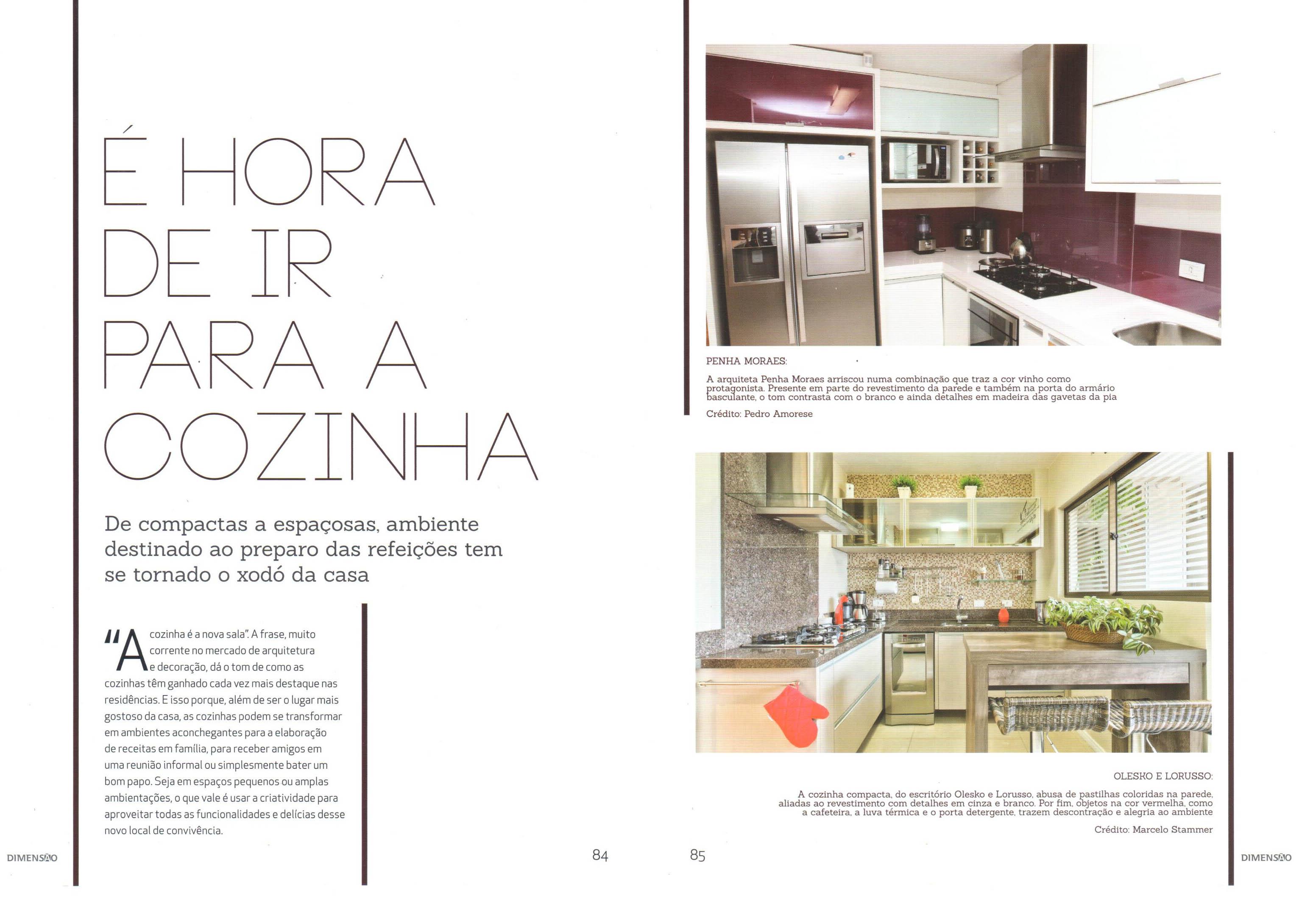 Projeto de cozinha é destaque da revista Dimensão!